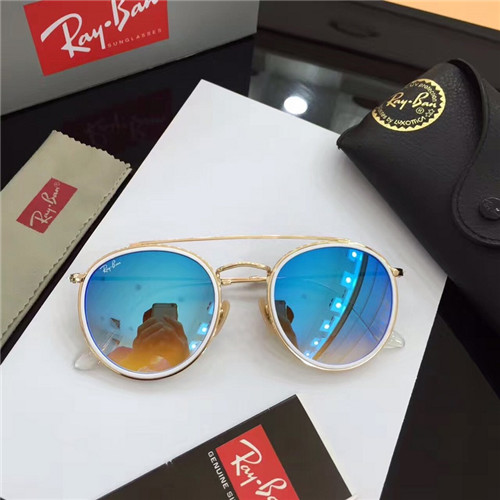 ddefa33947 CHEAP RAY BAN RB3647 ROUND SUNGLASSES GOLD FRAME .