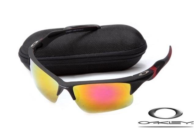 fd322bd0e3 Cheap Oakley Half Jacket 2.0 Sunglasses Black Frame Fire Iridium Lens