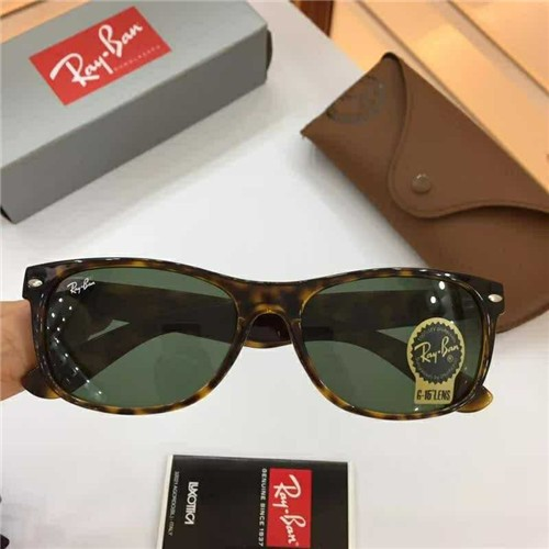 af173aa287109 CHEAP RAY BAN RB2132 WAYFARER SUNGLASSES LEOPARD FRAME GREEN LENS OUTLET
