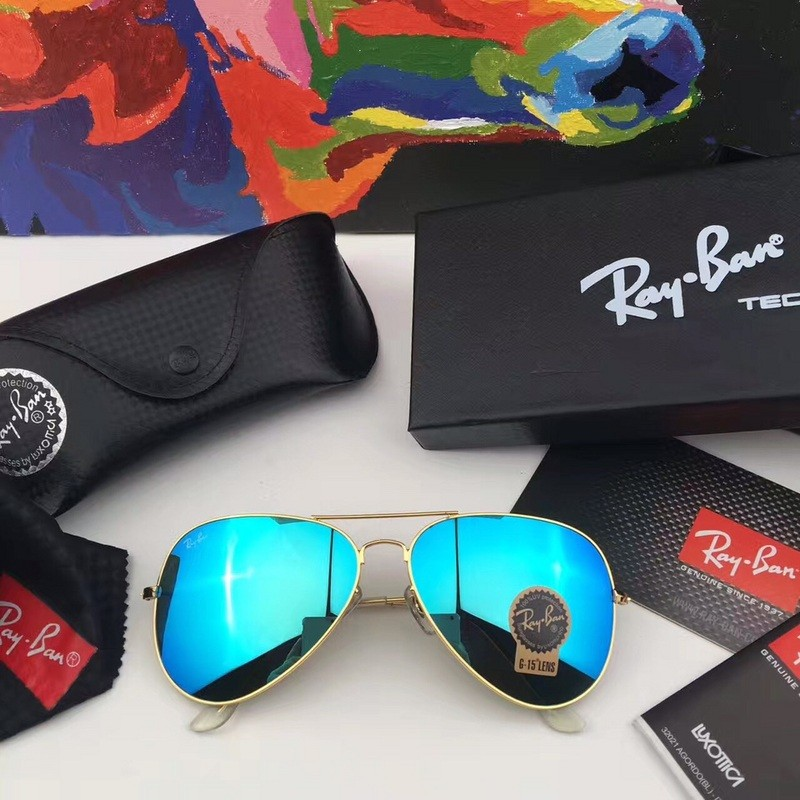 a32d7efd9cc3f FAKE RAY BAN RB3026 AVIATOR SUNGLASSES GOLD FRAME BLUE GRADIENT LENS OUTLET