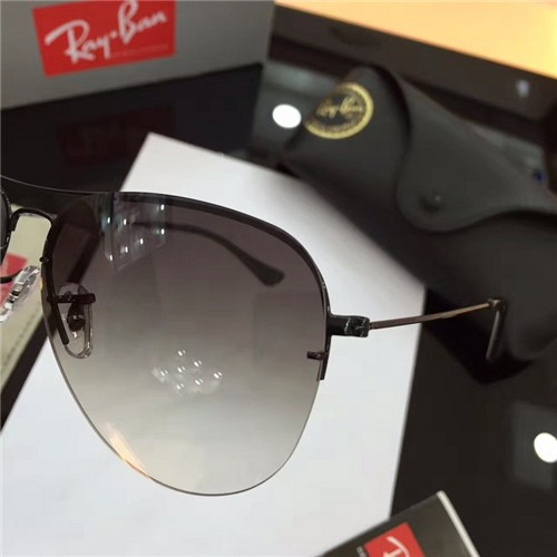 690372748b FAKE RAY BAN RB3460 AVIATOR SUNGLASSES BLACK FRAME GREY GRADIENT LENS OUTLET