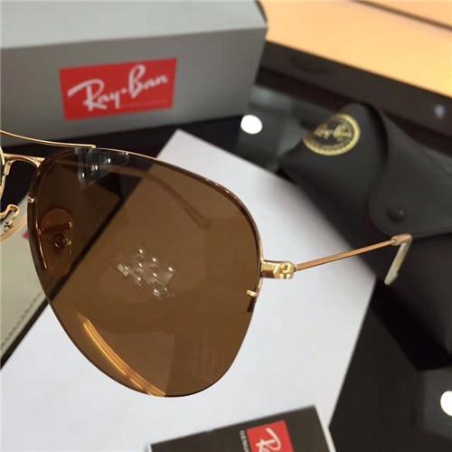ray ban gold frame aviator sunglasses