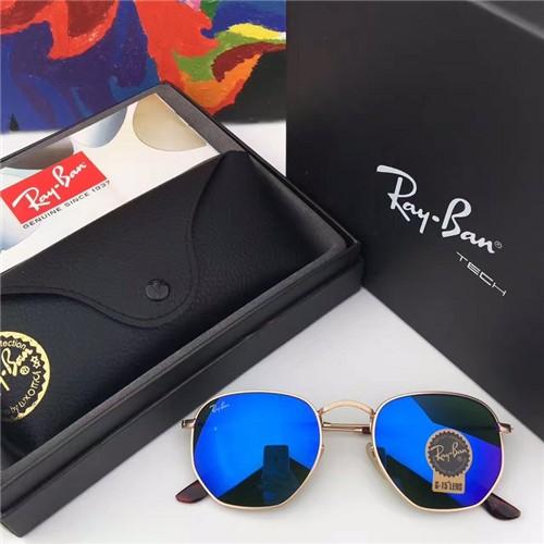 ray ban aviators gold frame blue lens