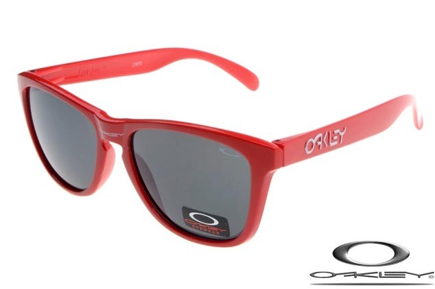 769c6f1f27c FAKE OAKLEY FROGSKINS SUNGLASSES RED FRAME GREY LENS