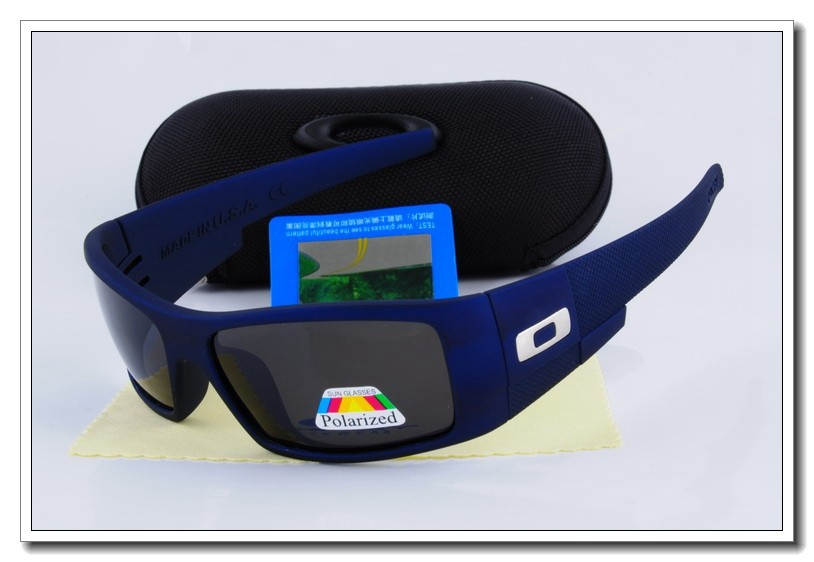 c9eaae628d ... low cost cheap oakley oil drum polarized sunglasses blue frame black  lens e687f c2a45